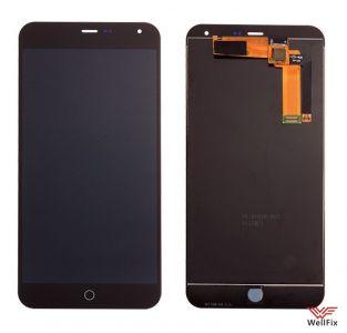 Дисплей Meizu M1 Note с тачскрином черный