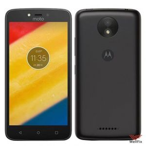 Изображение Пластиковый чехол для Motorola Moto C Plus XT1723 черный (Nillkin)
