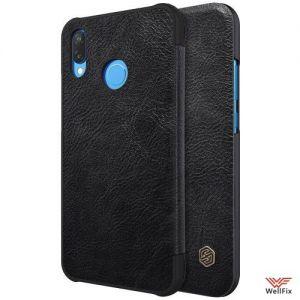 Изображение Кожаный чехол-книжка для Huawei P10 Lite черный (Nillkin Qin)