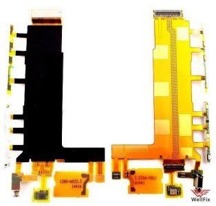 Шлейф Sony Xperia Z3 D6603/ D6643/ D6653 основной в сборе с боковыми кнопками, вибромотором и микрофоном