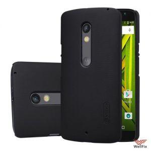 Изображение Пластиковый чехол для Motorola Moto X Play (xt1561/xt1562/xt1563) черный (Nillkin)