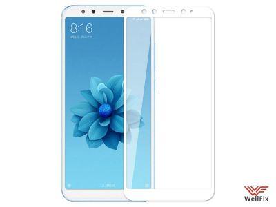 Изображение Защитное 5D стекло для Xiaomi Mi A2 / 6x белое
