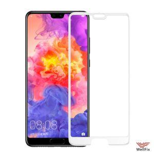 Изображение Защитное 5D стекло для Huawei P20 белое