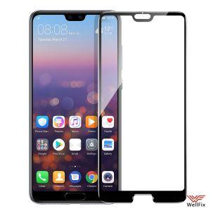 Изображение Защитное 5D стекло для Huawei P20 Pro черное