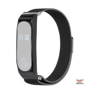 Изображение Металлический ремешок с магнитной застежкой Xiaomi Mi Band 2 черный