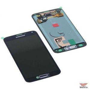Дисплей Samsung Galaxy S5 SM-G900F с тачскрином черный