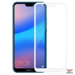 Изображение Защитное 3D стекло для Huawei P20 Lite белое