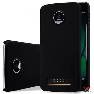 Изображение Пластиковый чехол для Motorola Moto Z Play черный (Nillkin)