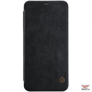 Изображение Кожаный чехол-книжка для OnePlus 5T черный (Nillkin Qin)