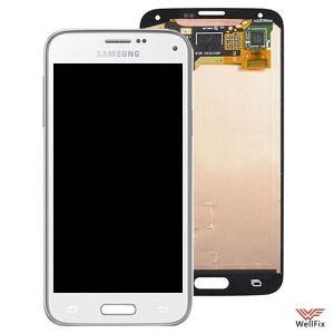 Дисплей Samsung Galaxy S5 mini SM-G800F с тачскрином белый