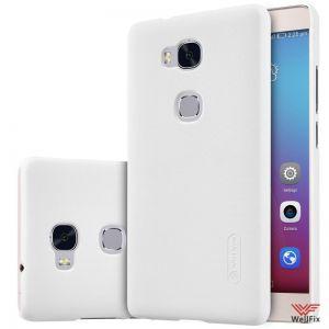 Изображение Пластиковый чехол для Huawei Honor 5X (GR5) белый (Nillkin)