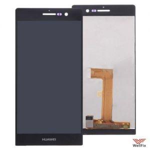 Дисплей Huawei Ascend P7 с тачскрином черный