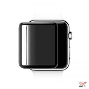 Изображение Защитное 5D стекло для Apple Watch 38мм черное