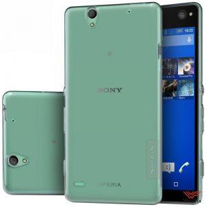 Изображение Силиконовый чехол для Sony Xperia C4 серый (Nillkin)