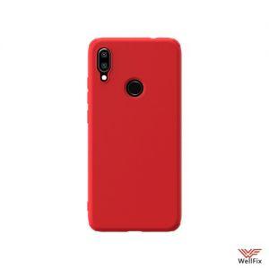 Изображение Силиконовый чехол для Xiaomi Redmi Note 7 красный (Nillkin Rubber)