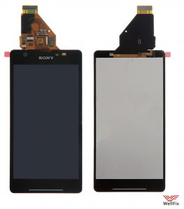 Дисплей Sony Xperia ZR черный с тачскрином