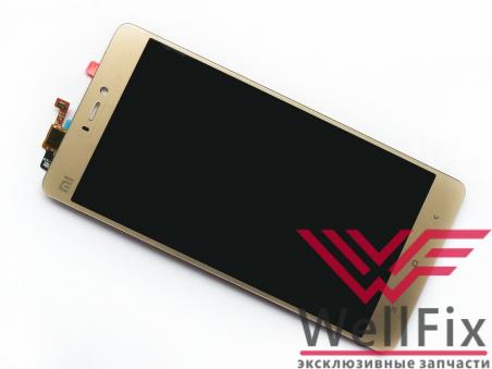 Дисплей Xiaomi Mi4S с тачскрином золотой