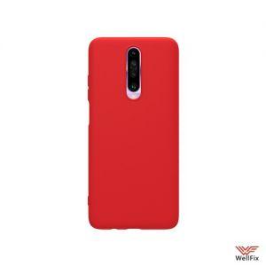 Изображение Силиконовый чехол для Xiaomi Redmi K30 красный (Nillkin Rubber)