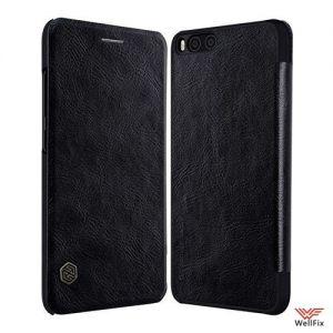 Кожаный чехол-книжка Xiaomi Mi6 черный (Nillkin Qin)