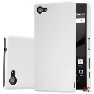 Изображение Пластиковый чехол для Sony Xperia Z5 Compact белый (Nillkin)