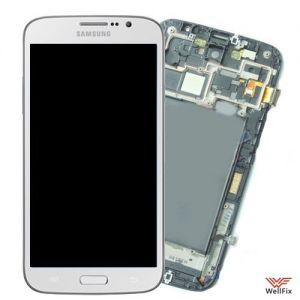 Дисплей Samsung Galaxy Mega 6.3 I9200 с тачскрином белый