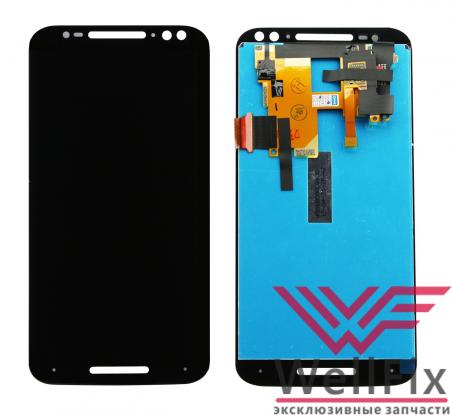 Дисплей Motorola Moto X Style с тачскрином черный