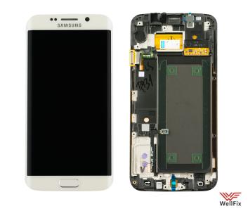 Дисплей Samsung Galaxy S6 Edge SM-G925F с тачскрином белый