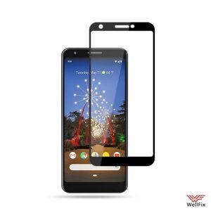 Изображение Защитное 5D стекло для Google Pixel 3A черное