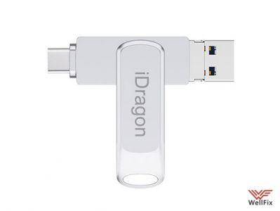 Изображение Флеш накопитель 3 в 1 iDragon U019 Type-C / microUSB / USB 3.0 128Gb