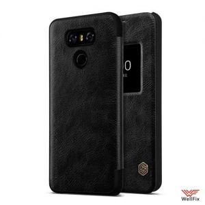 Изображение Кожаный чехол-книжка для LG G6 H870DS черный (Nillkin Qin)