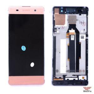 Изображение Дисплей для Sony Xperia XA (F3112) в сборе розовый