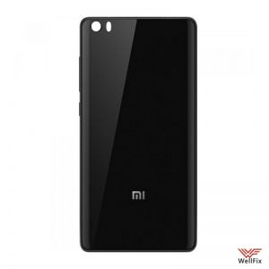 Изображение Задняя крышка Xiaomi Mi Note черная (стекло)