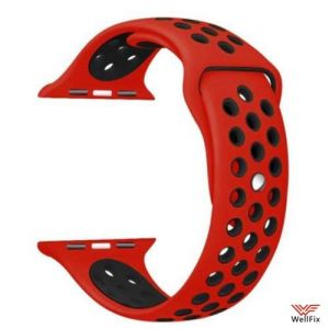 Изображение Ремешок спортивный для Apple Watch 2 (38мм) красно-черный