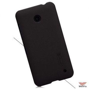 Изображение Пластиковый чехол для Nokia 6 черный (Nillkin)