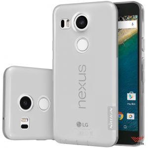 Чехол LG Nexus 5X белый (Nillkin, силикон)