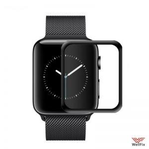 Изображение Защитное 5D стекло для Apple Watch 44мм черное