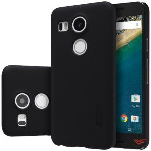 Изображение Пластиковый чехол для LG Nexus 5X черный (Nillkin)