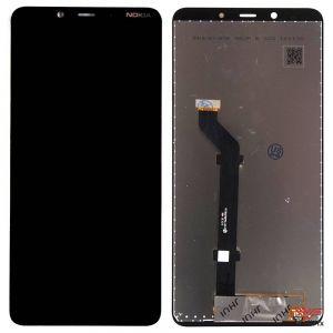 Изображение Дисплей Nokia 3.1 Plus в сборе черный