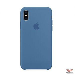 Изображение Силиконовый чехол для iPhone X, XS синий