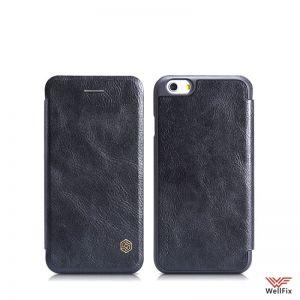 Изображение Кожаный чехол-книжка для Apple iPhone 6, 6s черный (Nillkin Qin)