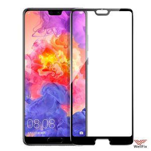 Изображение Защитное 5D стекло для Huawei P20 черное