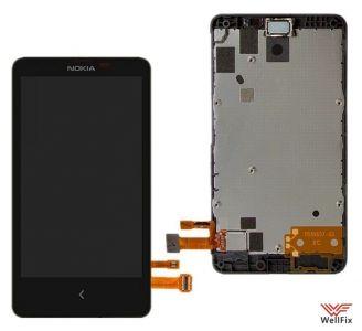 Дисплей Nokia X Dual sim с тачскрином