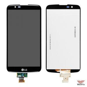 Дисплей LG K10 K410 с тачскрином черный