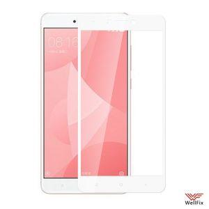 Изображение Защитное 3D стекло для Xiaomi Redmi Note 4X белое
