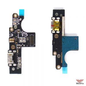 Изображение Шлейф для Nokia 3 на разъем зарядки / микрофон (оригинал)