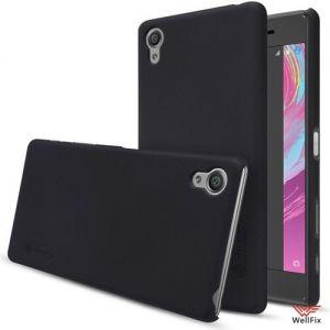 Изображение Пластиковый чехол для Sony Xperia X черный (Nillkin)