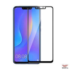 Изображение Защитное 5D стекло для Huawei Nova 3i черное