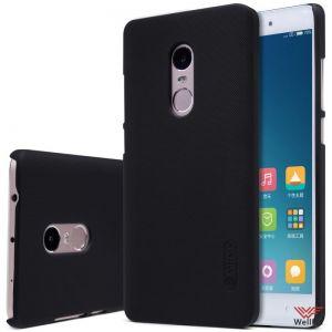 Изображение Пластиковый чехол для Xiaomi Redmi Note 4 черный (Nillkin)