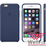 Чехол для Apple iPhone 6, 6s Leather Case синий